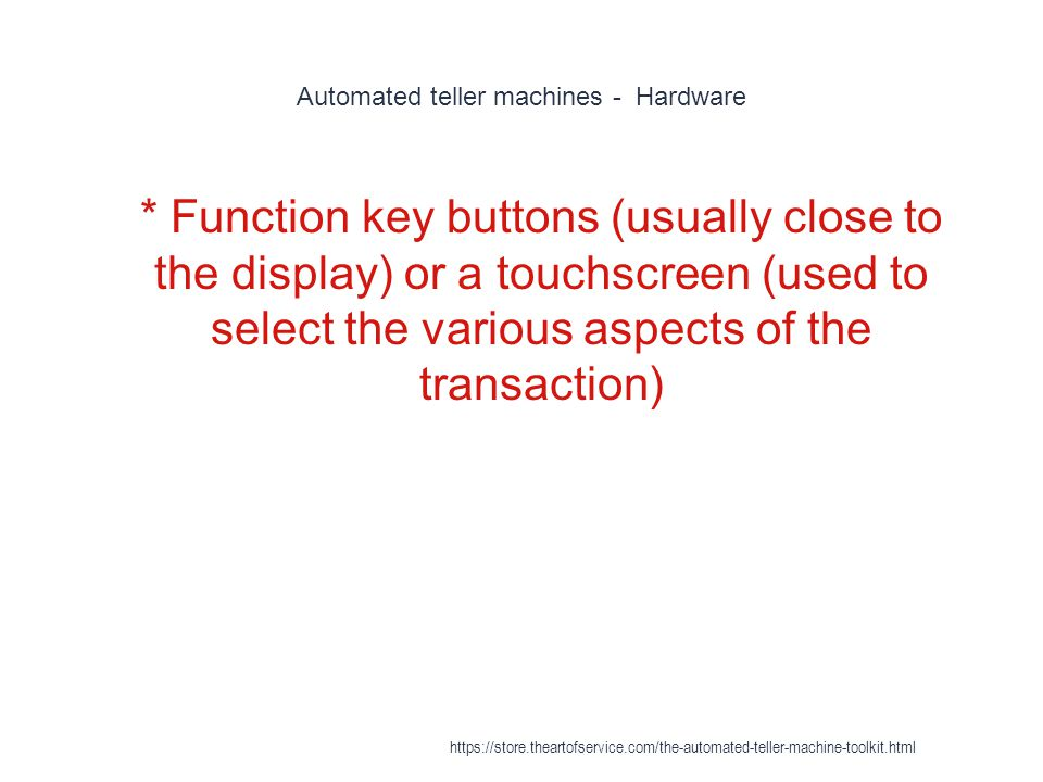 Automated teller machines - Hardware