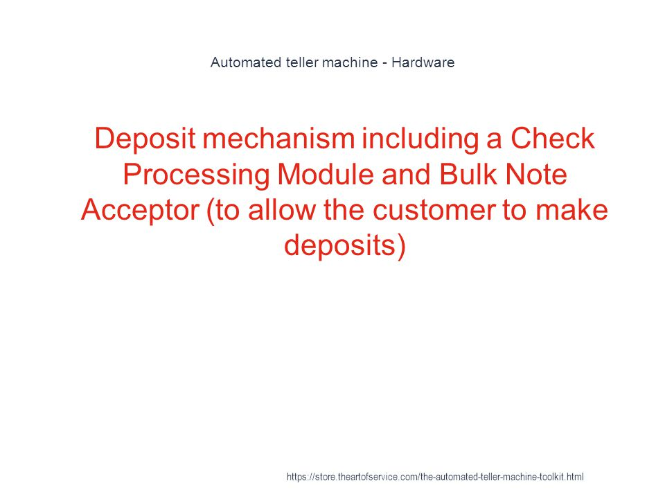 Automated teller machine - Hardware