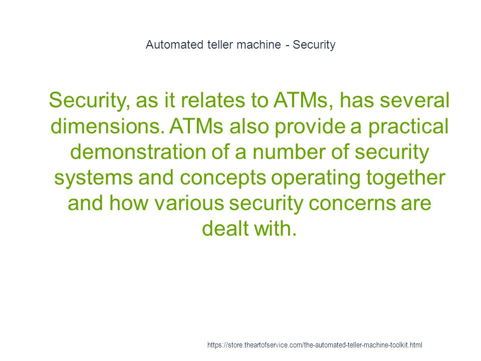Automated teller machine - Security