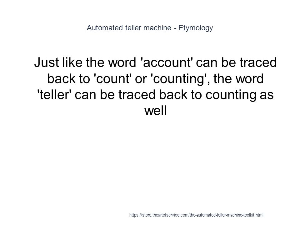 Automated teller machine - Etymology