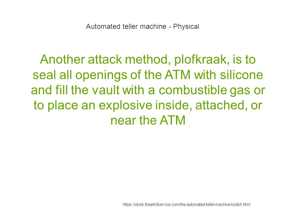 Automated teller machine - Physical