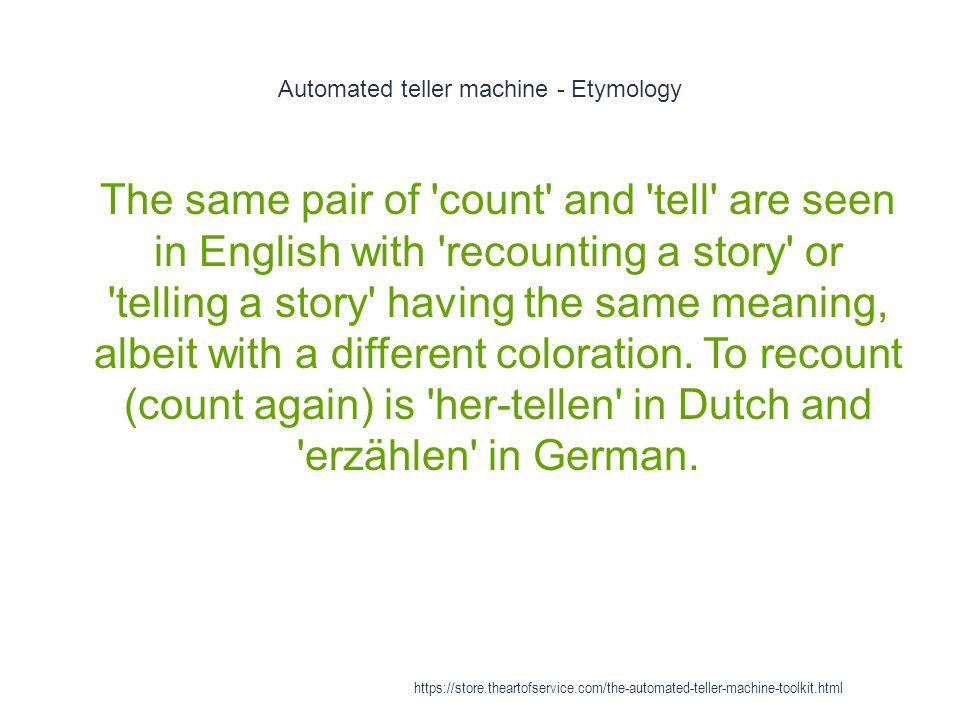 Automated teller machine - Etymology