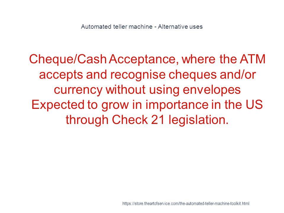 Automated teller machine - Alternative uses