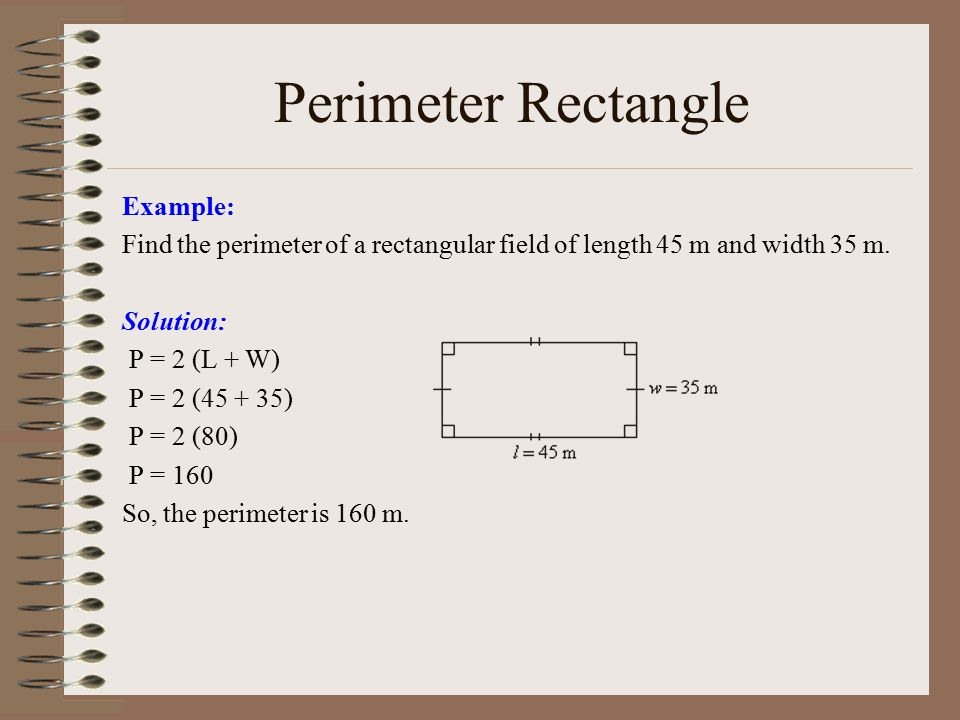 Word Problems: Area and Perimeter of a Rectangle