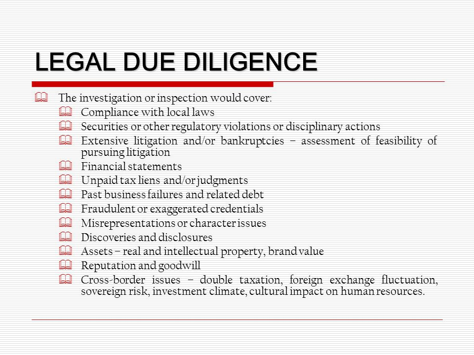 Real estate due diligence report sle 28 images for Legal due diligence report template