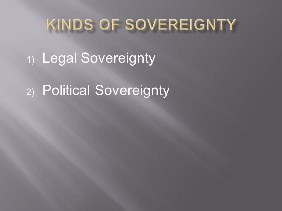 Legal Sovereignty Political Sovereignty