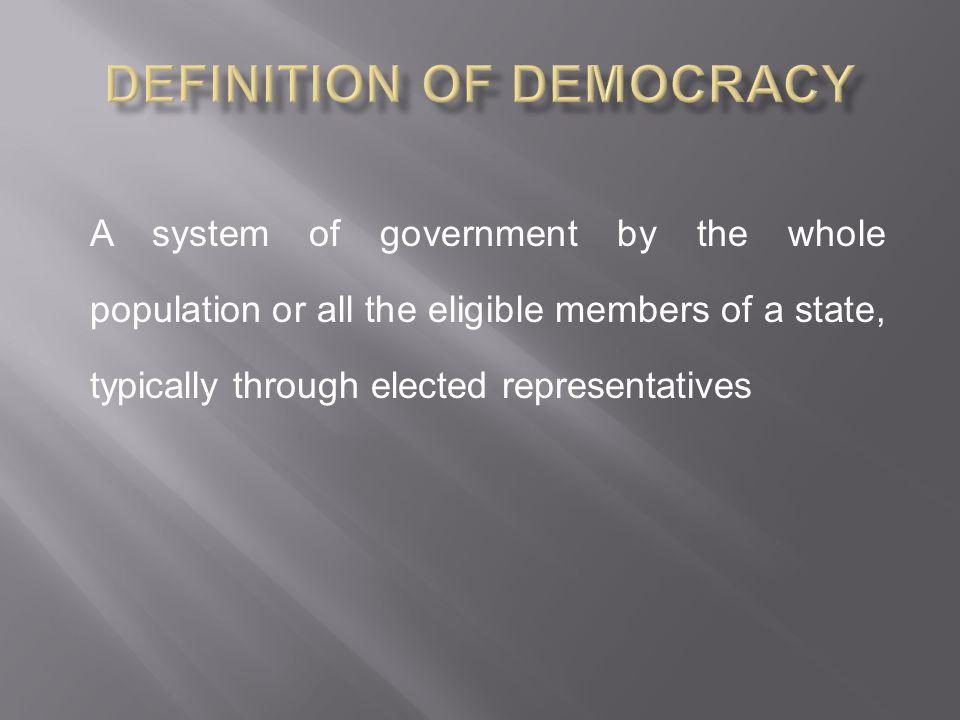 Definition of Democracy