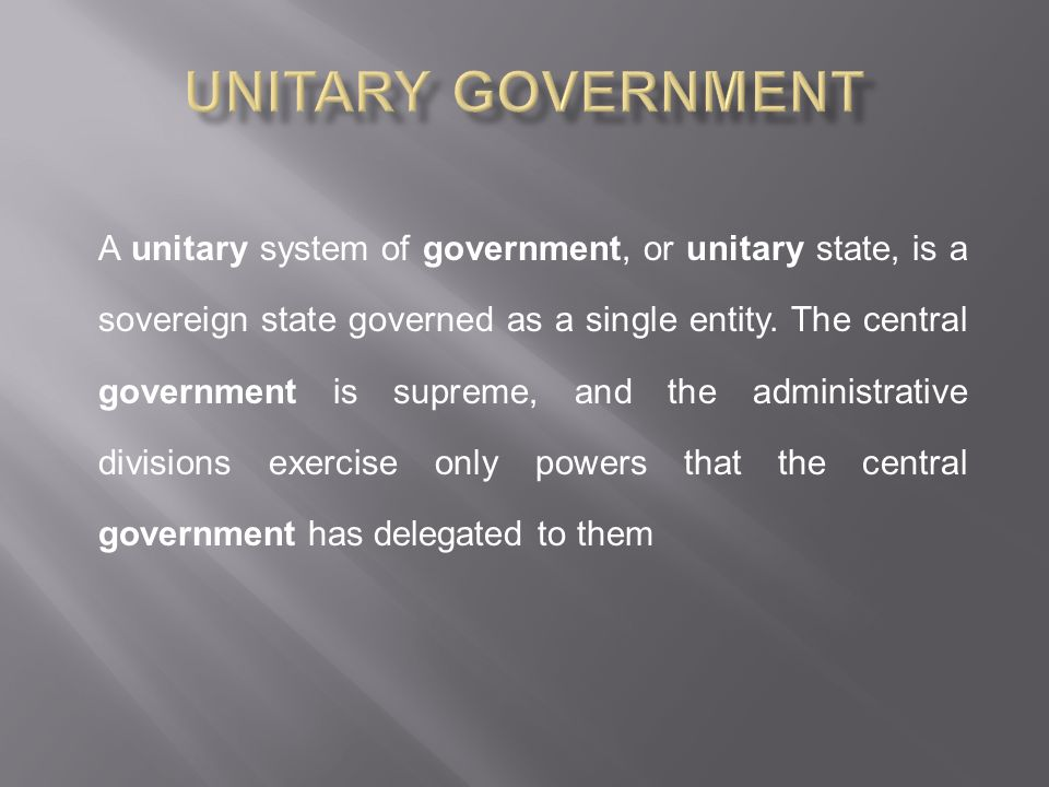 Unitary Government