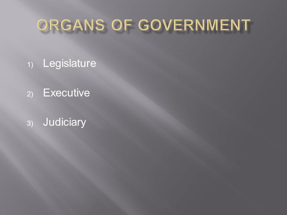 Legislature Executive Judiciary