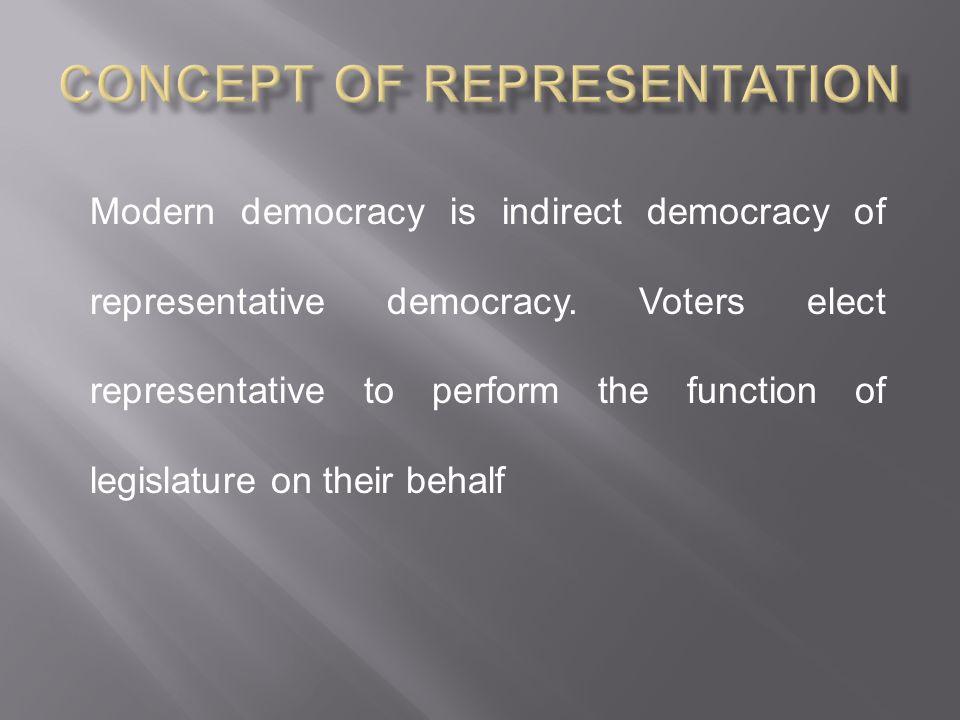 Concept of Representation
