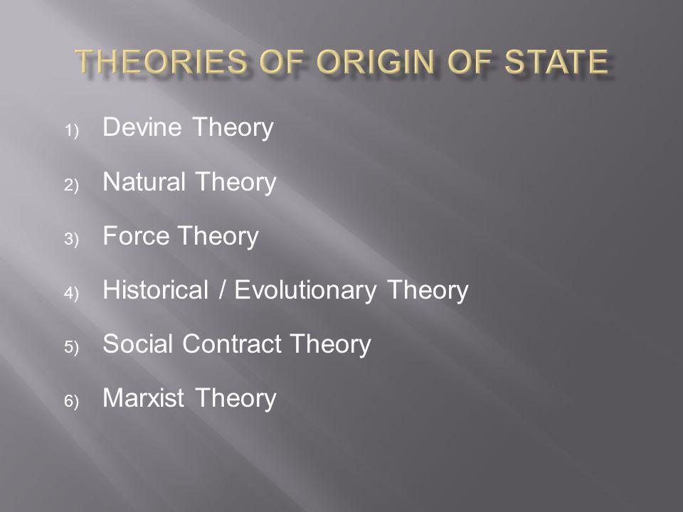 Theories of Origin of State