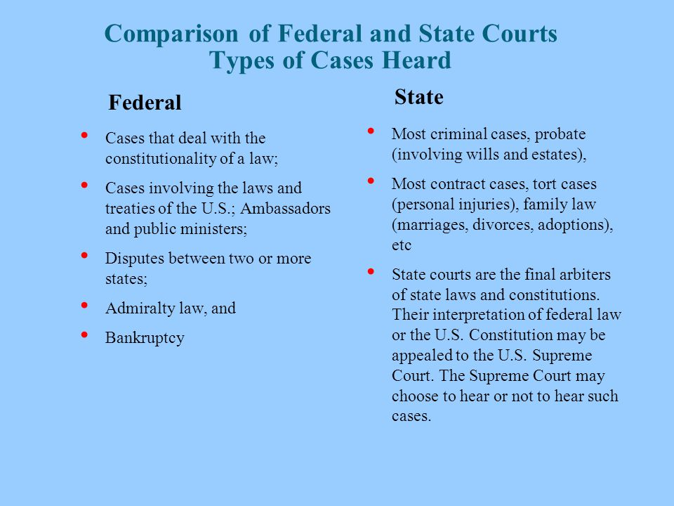 comparison of judicial system of usa The us judicial system is a complex, fascinating system learn about the us judicial system, federal courts, the us supreme court and grand juries.