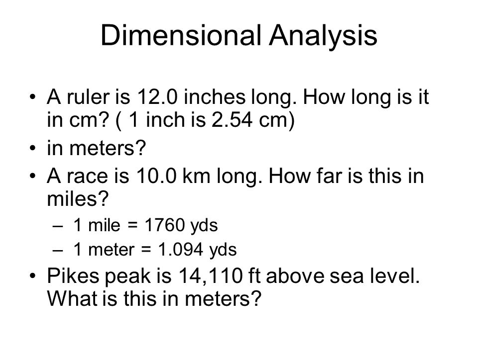 How Far Is A Meter : The numerical side of chemistry ppt download