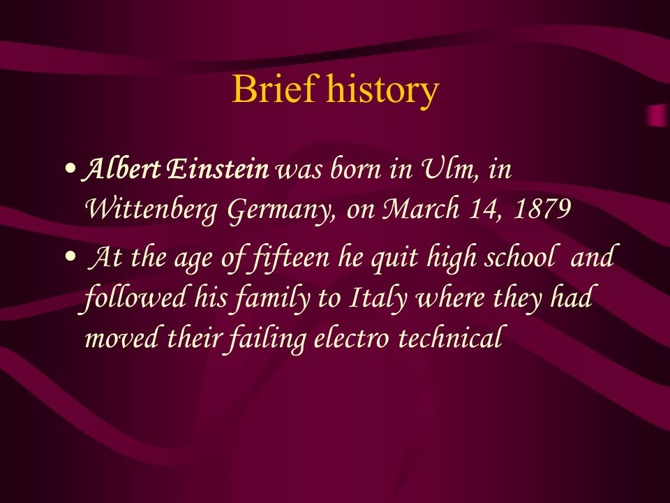an introduction to the history of albert einstein Free download of volume ii, on relativity, cosmology and albert einstein, of the free motion mountain physics textbook.