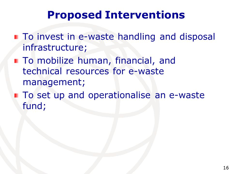 Proposed Interventions