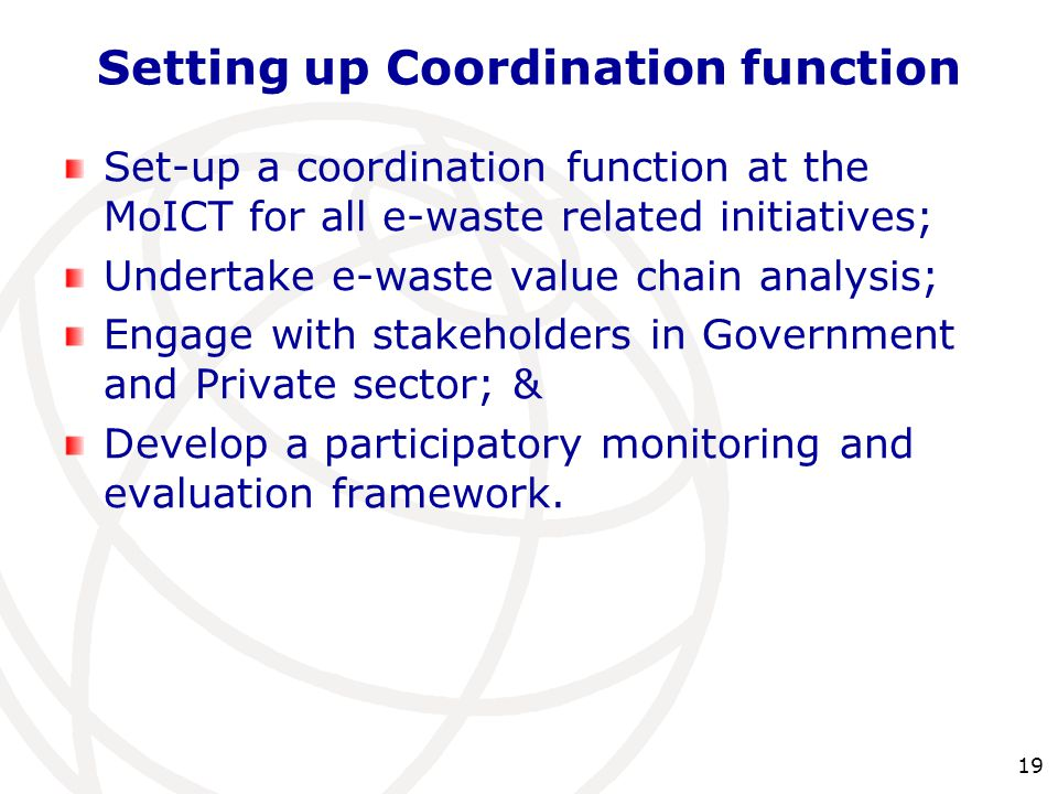 Setting up Coordination function