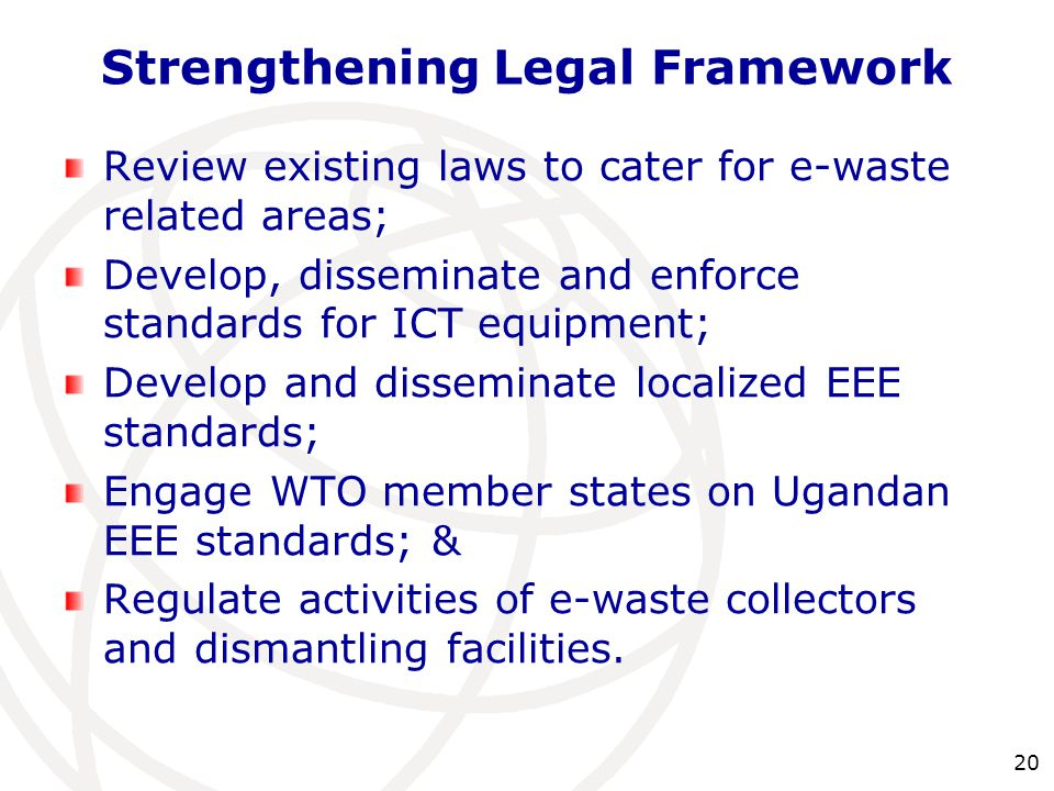 Strengthening Legal Framework