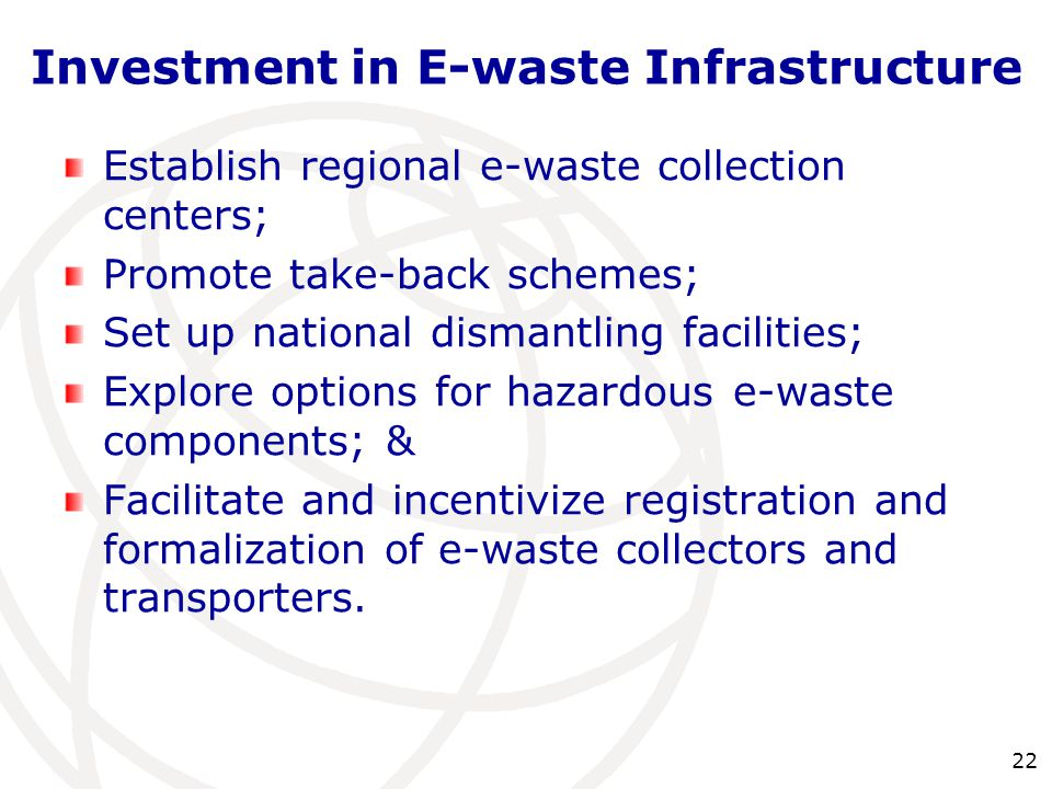 Investment in E-waste Infrastructure