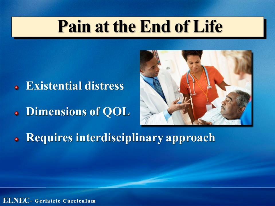 treating pain by ending life Treating chronic pain using the oska pulse device  researchers reported 52% reduction in life interference in the pemf group, compared to 11% reduction in the .