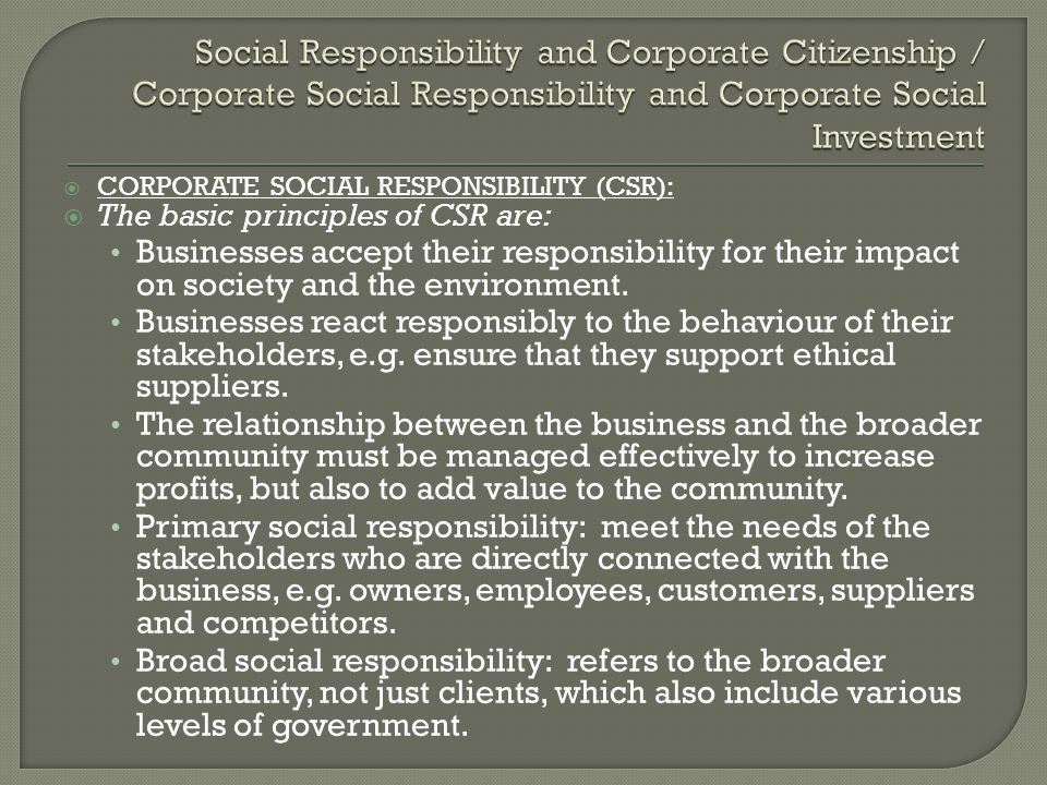 Corporate social responsibility a value adding