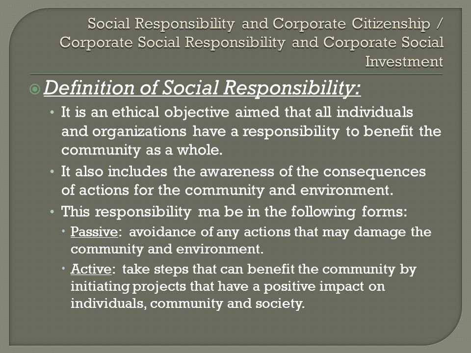 the definition of csr bringing positive influence to the business Having a good definition of csr the results indicate that a general dynamic capability has a positive influence on a firm's competence in supply chain management corporate social responsibility in macao's gambling industry, journal of business ethics, 2017.