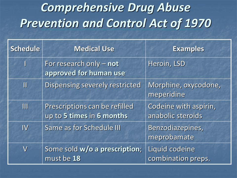 drug prevention and control essay