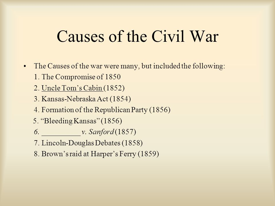 The American Civil War Ppt Video Online Download