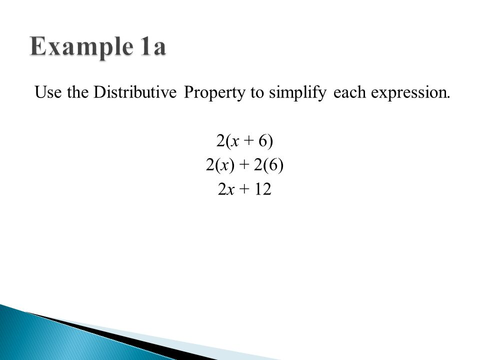 The Distributive Property - ppt video online download