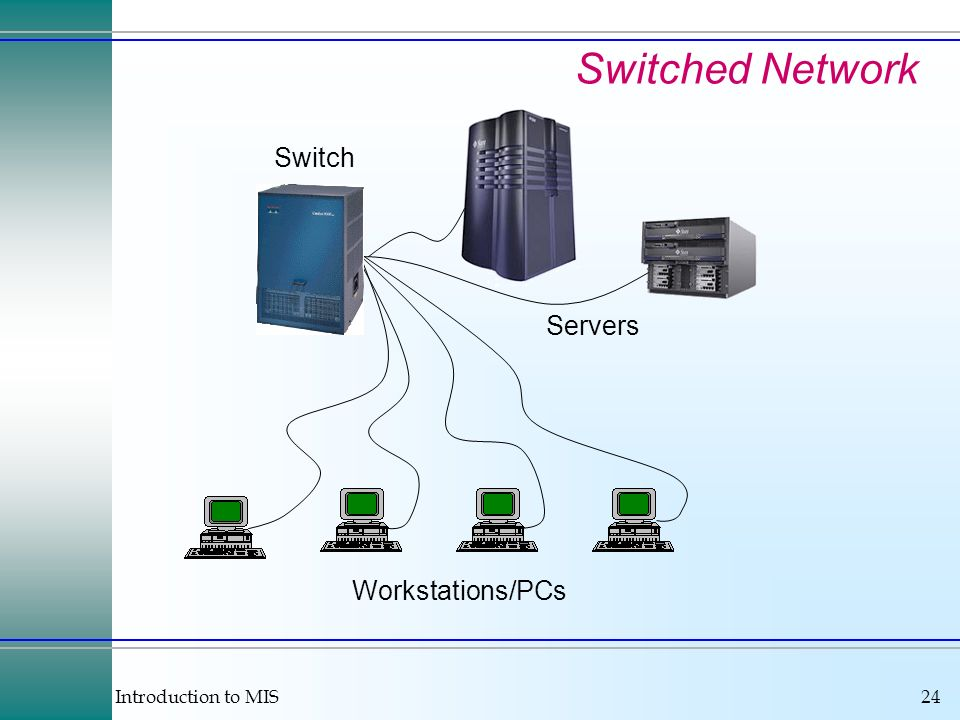 Switched Network Switch Servers Workstations/PCs