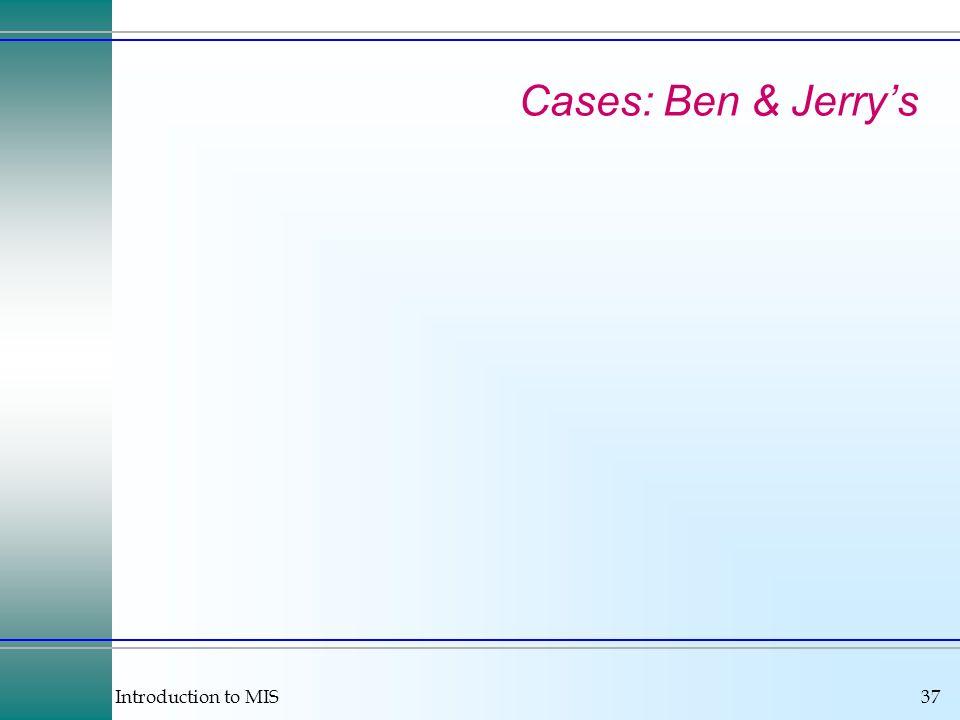 Cases: Ben & Jerry's