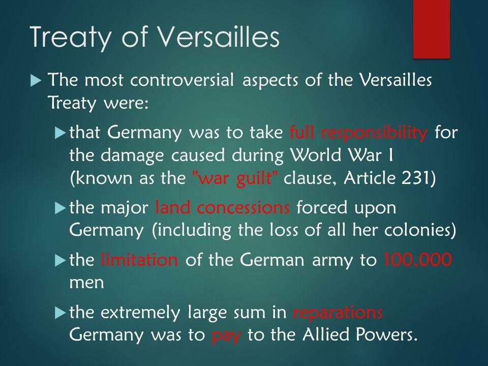 """article 231 of the treaty of Article 231, commonly known as the """"guilt clause"""" or the war guilt clause, is the first article in part viii, reparations of the treaty of versailles."""