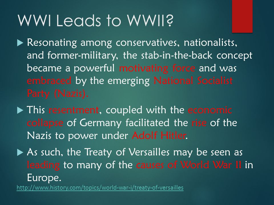 adolf hitler and the treaty of versailles as causes for wwii Was the versailles treaty the cause of world war ii why did the treaty of versailles cause problems  the war reparations demanded under the treaty sent germany broke when adolf hitler made his pitch to the german electorate in 1932, he emphasised their genuine grievances over the versailles treaty, which he promised to abrogate in.
