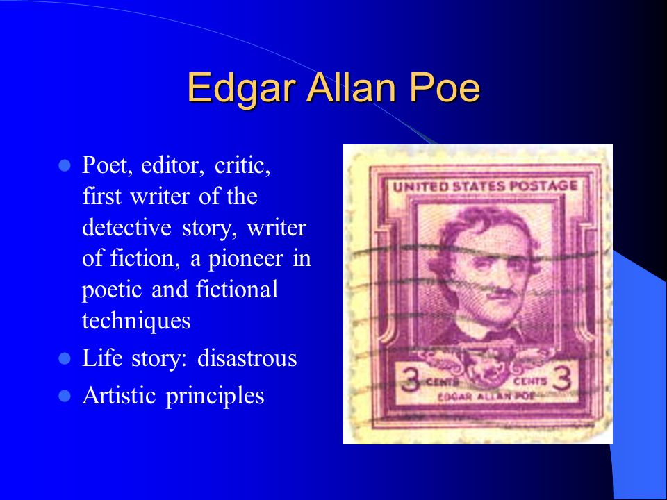 a biography of edgar allan poe a great author and poet Edgar allan poe was an american author, poet, editor and literary critic, who was also associated with the american romantic movement check out this biography to know about his childhood, family life, achievements and fun facts about his life.