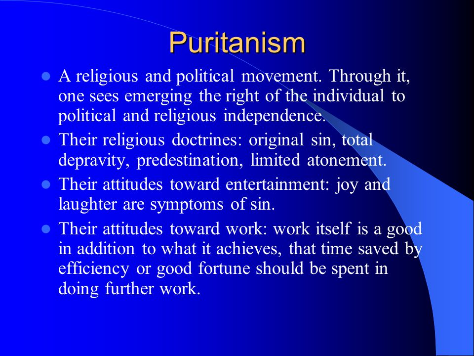 An analysis of puritan influences on the development of american colonial society