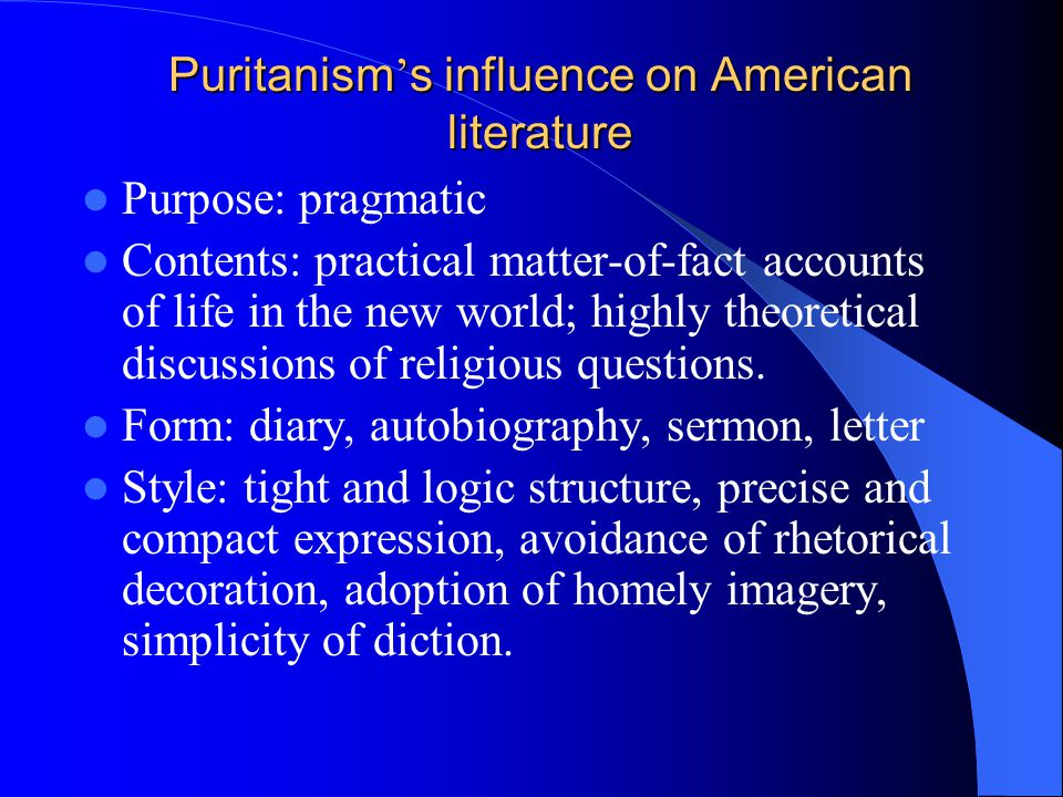 The Puritan Movement: Influences on American History