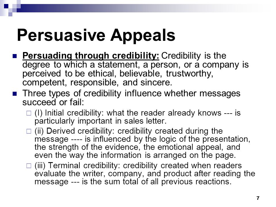 ways to establish credibility in persuasive messages Four part plan for overcoming resistance and crafting successful persuasive messages 1 gaining attention establishing credibility is another way to reduce.