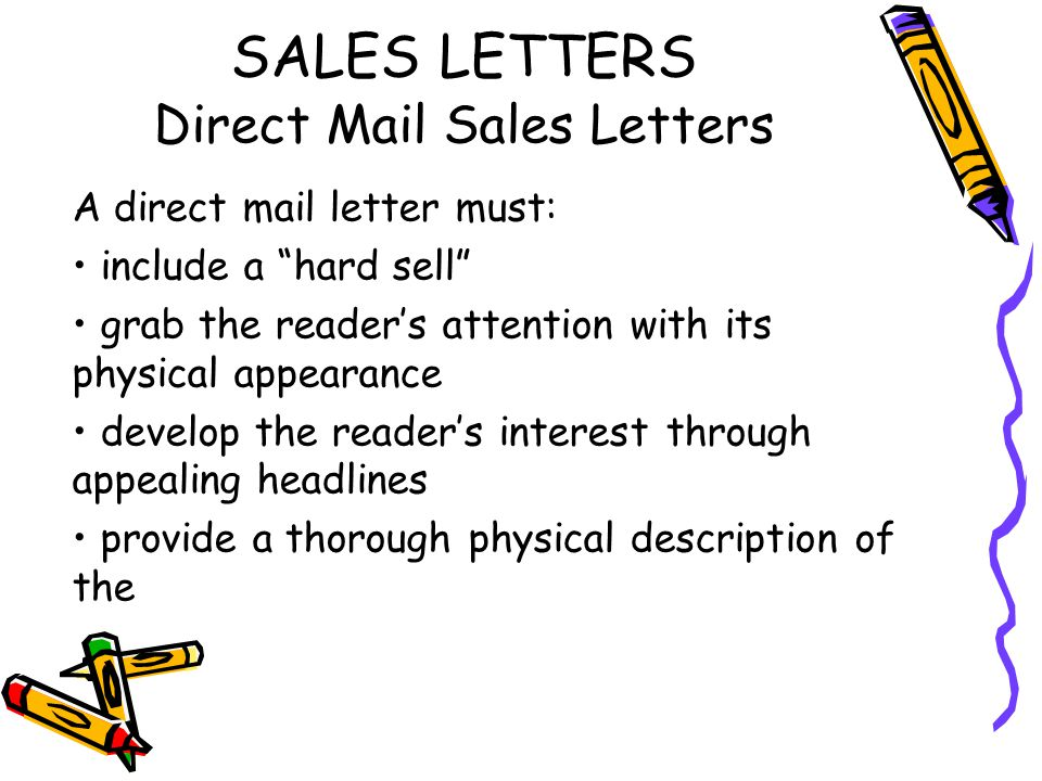 Sales and public relations letters ppt video online download sales letters direct mail sales letters altavistaventures Images