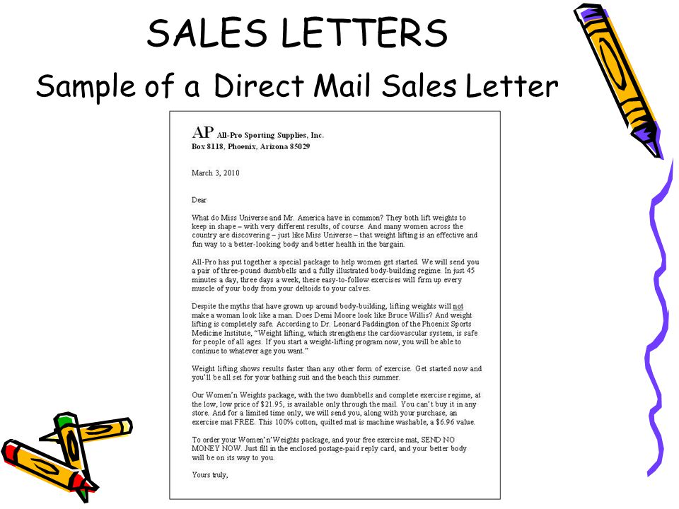 Sales and public relations letters ppt video online download 8 sales letters sample of a direct mail sales letter thecheapjerseys Choice Image
