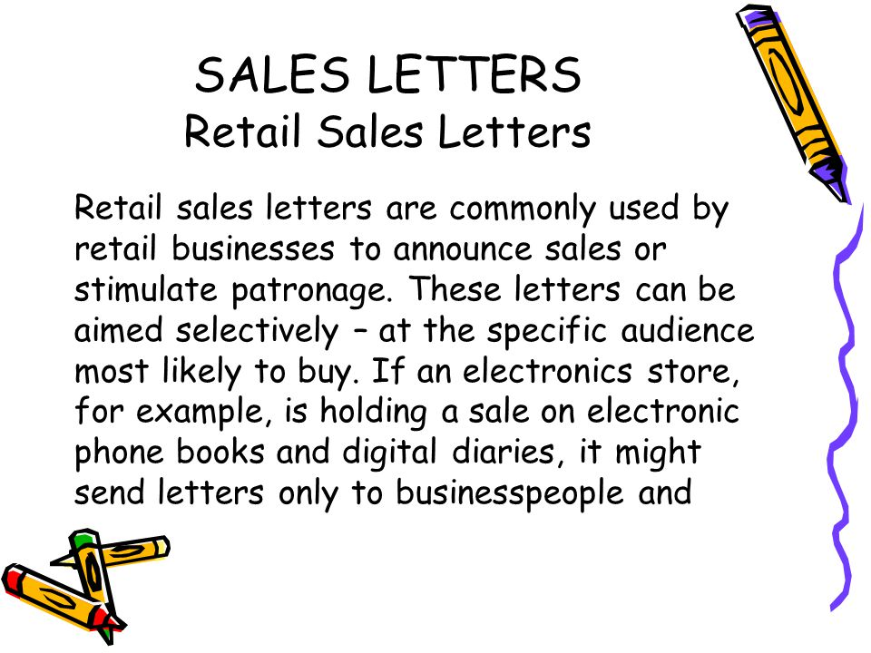 SALES AND PUBLIC RELATIONS LETTERS ppt download – Persuasive Sales Letter