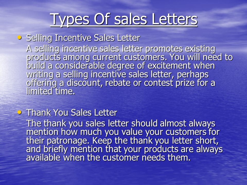 Letter writing ppt video online download types of sales letters selling incentive sales letter spiritdancerdesigns Choice Image