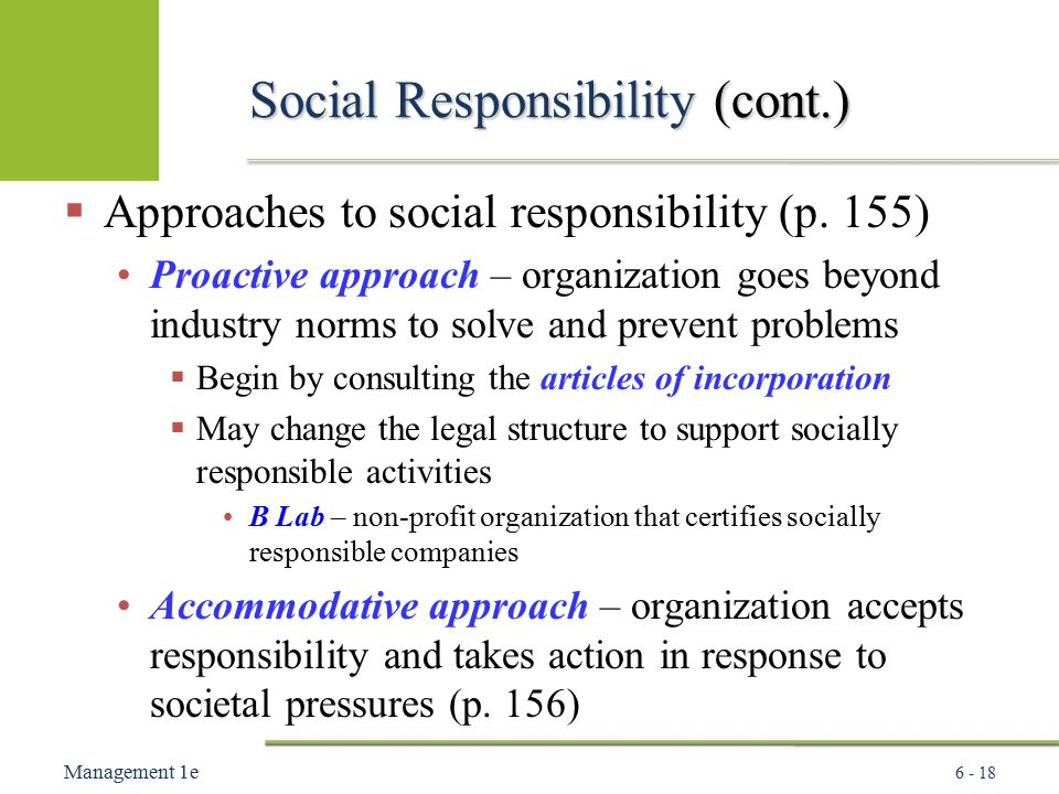 open systems approach to social responsibility Corporate social responsibility and a moral approach linked to social in effect some form of social contract this leaves open the issue of.