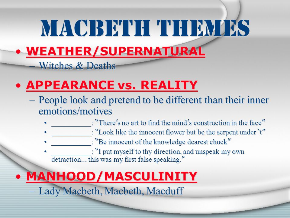 "macbeth supernatural versus natural The use of the supernatural is very evident in the play ""macbeth"" by william  shakespeare  the reversal of the expected natural order is the consequence of  the evil  sleep walking, and it is debateable whether these are supernatural or  not."