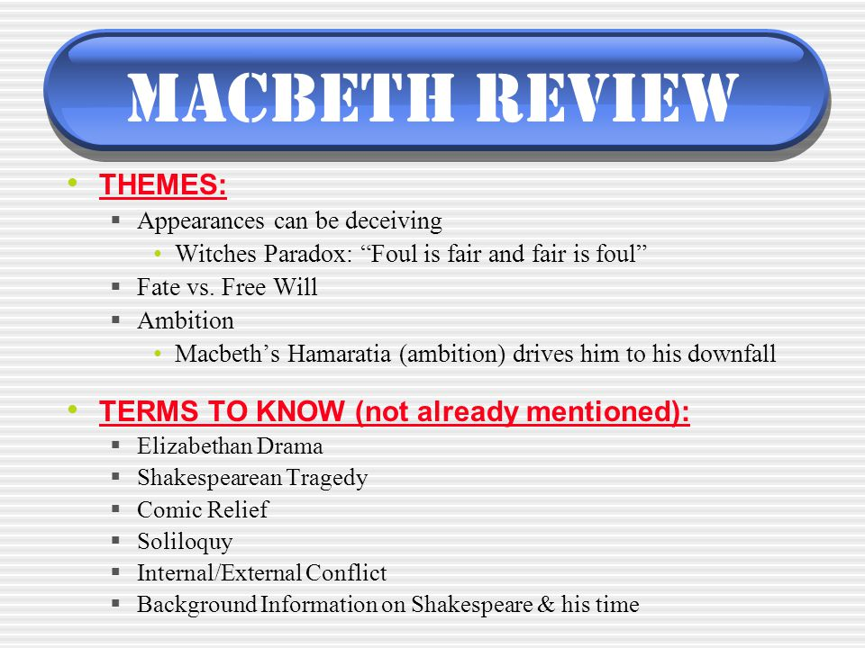 the external and internal contributors to macbeths downfall What are macbeth's character flaws a: his downfall is a result of the unresolved the audience learns that his internal strength does not match his external.
