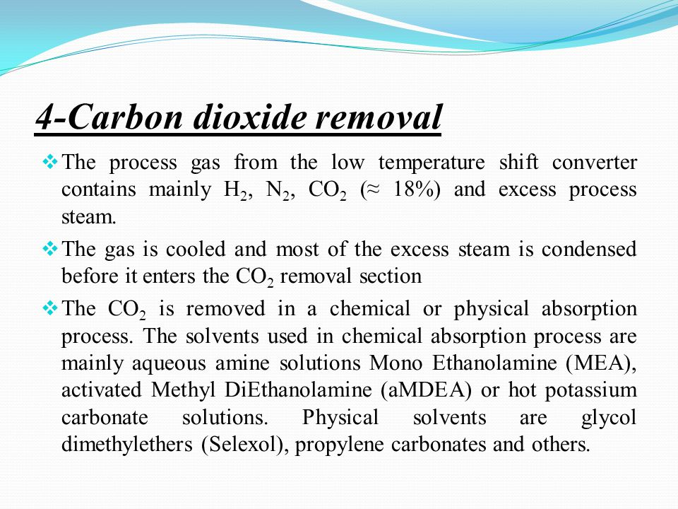 Carbon Dioxide Removal Systems : Pharos university جامعه فاروس faculty of engineering
