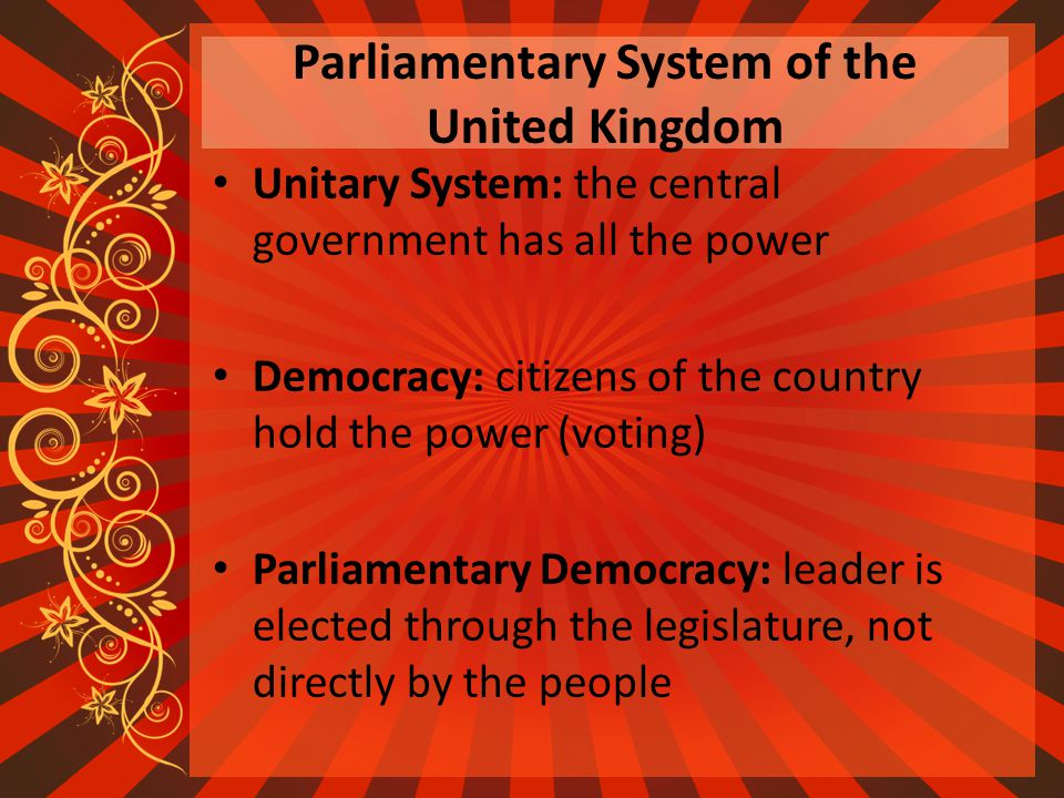 An examination of the uk parliamentary democracy