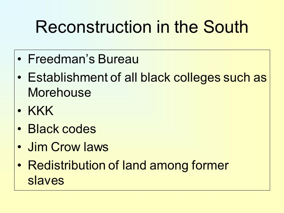 black codes jim crow laws