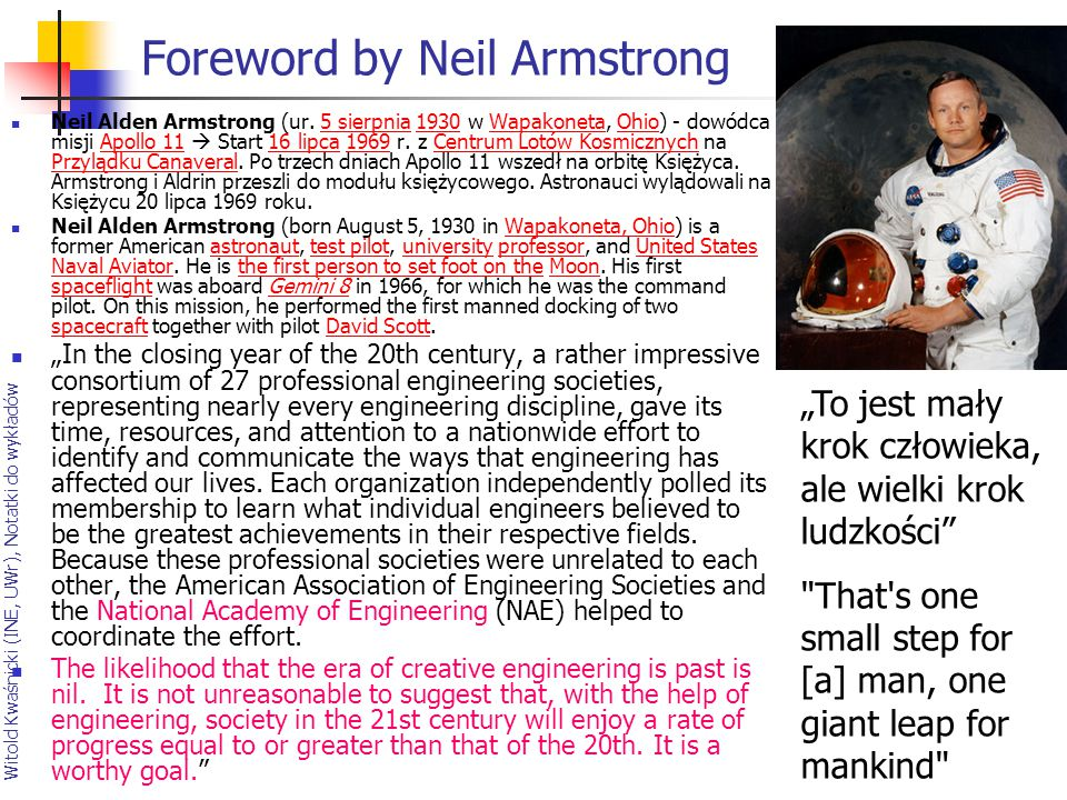 Foreword by Neil Armstrong