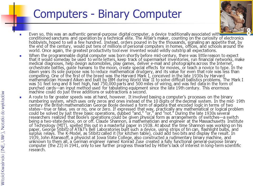 Computers - Binary Computer