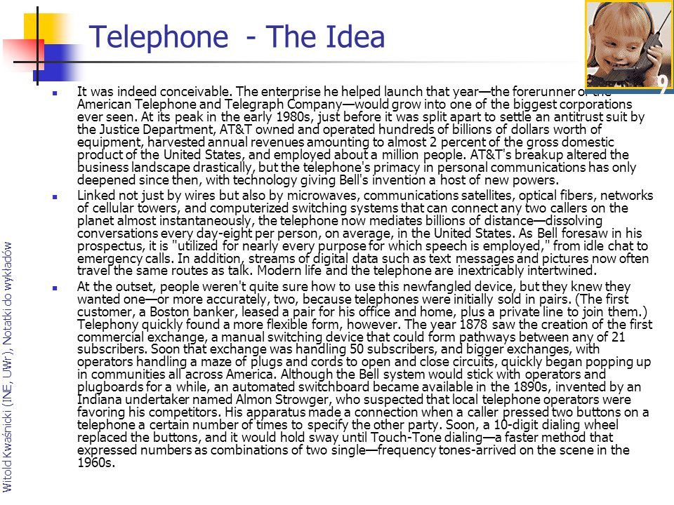 Telephone - The Idea