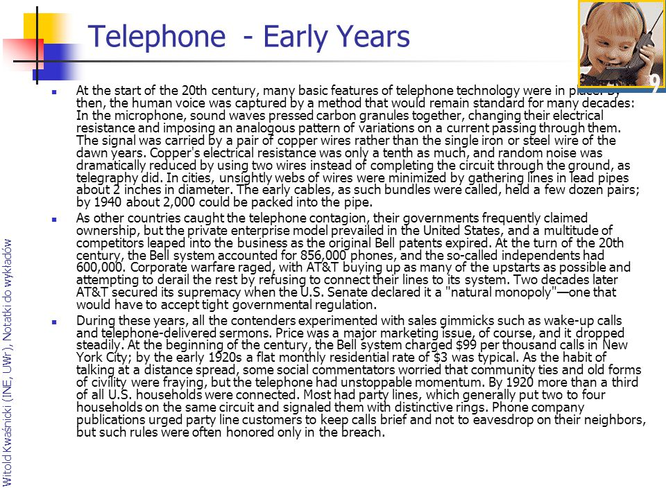 Telephone - Early Years